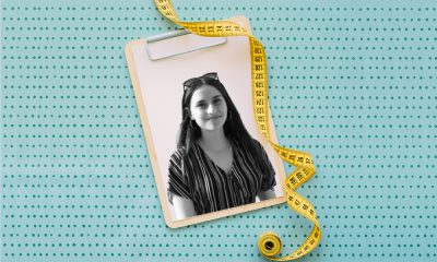 an image of a girl with a measuring tape around it