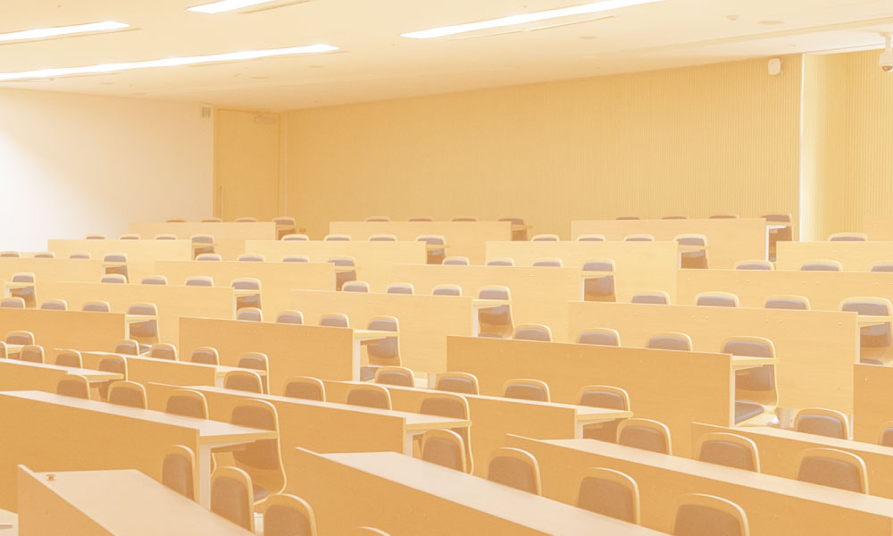 an image of an empty classroom.
