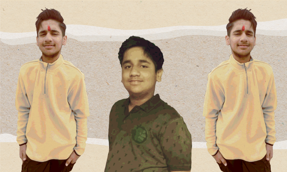 Images of an North-Indian boy showing his weight loss during COVID-19 lockdown.