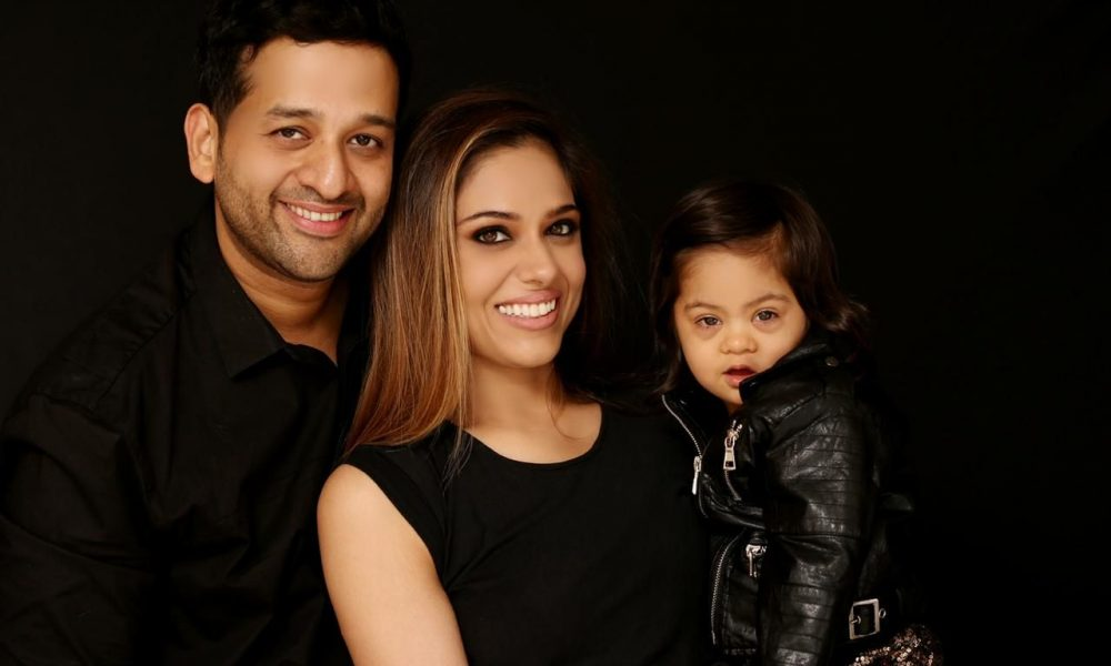 Image of Pooja Khanna, Vivek and Norah Mittal dressed in black