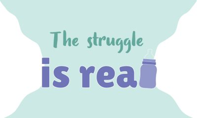 Image with the words 'the struggle is real'