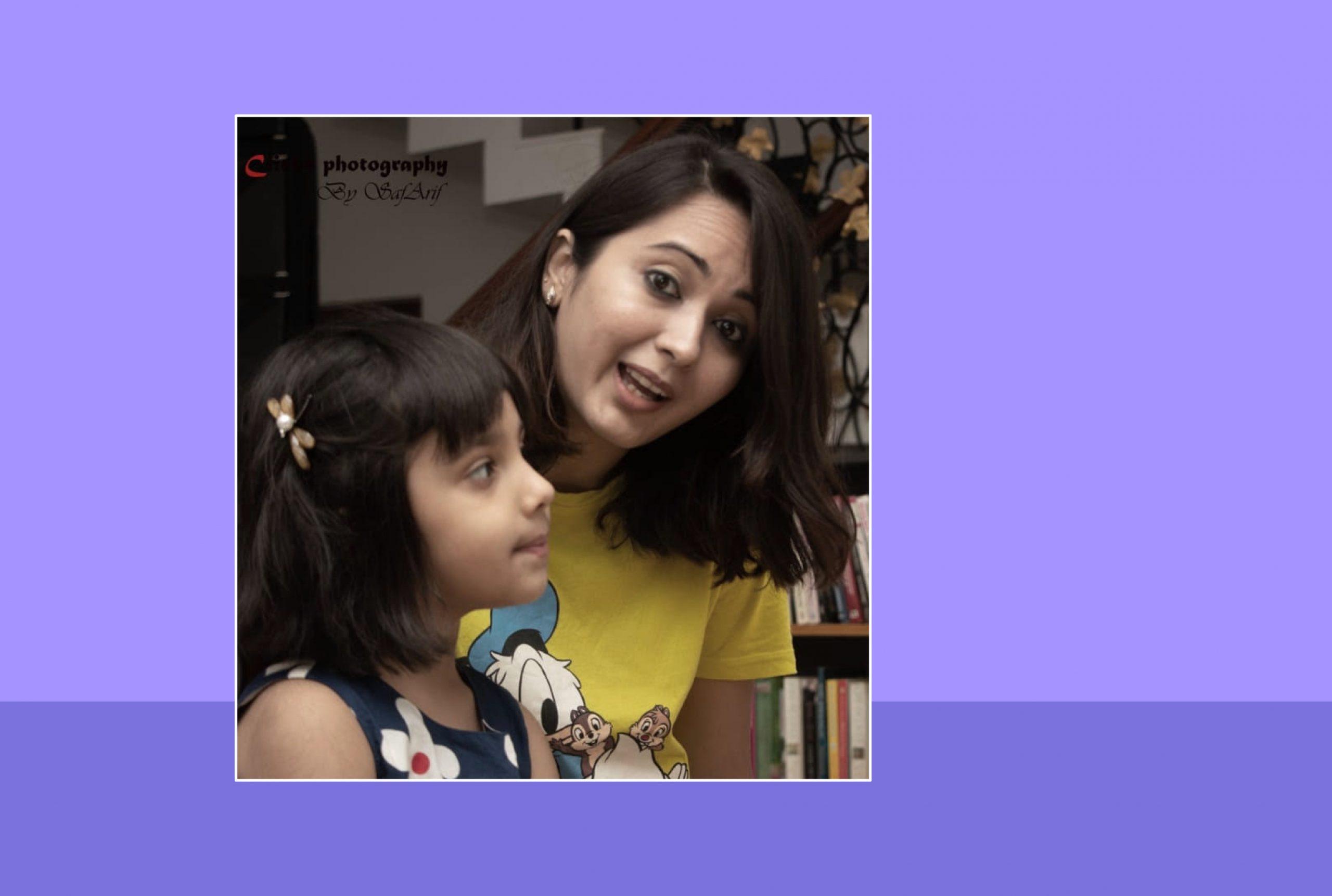 Image of Pallavi Gandhi and her daughter