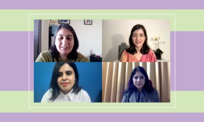 A screenshot from the panel with Dr. Shruti Kapoor, founder of Sayfty, Aakanksha Tangri, founder of Re:Set, Ruchita Chandrashekhar, a psychologist and Karnika Seth, a renowned cyberlawyer.